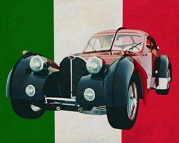 Bugatti Atlantic Italiaans ontwerp op zijn best van Jan Keteleer