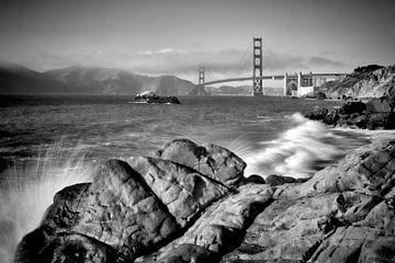 SAN FRANCISCO Baker Beach | Monochrom von Melanie Viola