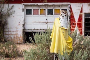 Geel shirt in de wind van Els Broers