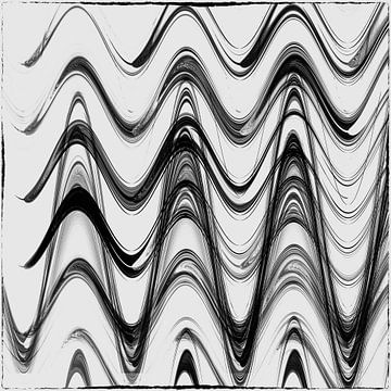 geometrische Linien - marmoriert schwarz von Christine Nöhmeier