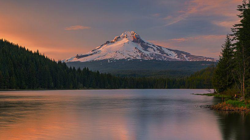 Sunset at Mount Hood, Oregon. van Henk Meijer Photography