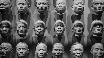 Aziatische diverse gezichten von Jeroen Somers