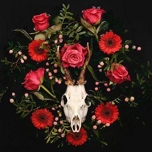 Dia de los Muertos - Herten schedel - Reebok gewei van Nikki Segers