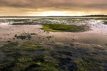 Zonsondergang over de waddenzee bij eb von Bas Witkop