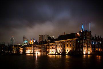 Der Hofvijver bei Nacht, Den Haag von Wouter Kouwenberg