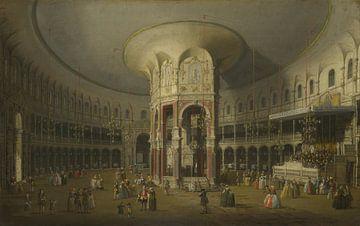 London: Innenansicht der Rotunde in Ranelagh, Canaletto