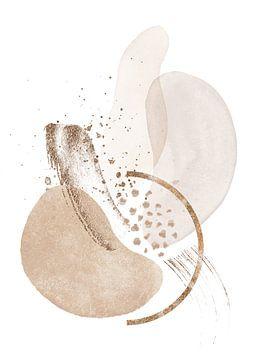 Moderne abstrakte Formen in neutralen Farben von Diana van Tankeren