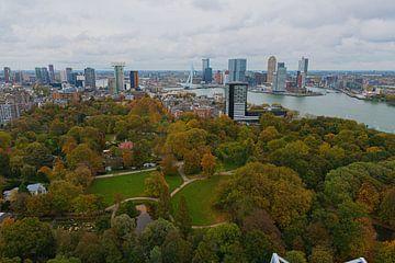Die Skyline von Rotterdam vom Euromast aus von Merijn Loch