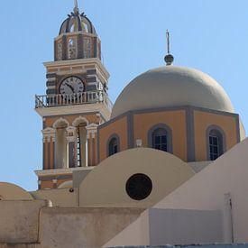 Kuppel und Glockenturm in Thira - Santorini von Christiane Schulze