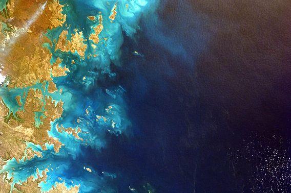 Noord west Australie, vanuit de ruimte van Moondancer .