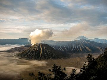Bromo vulkaan op Java van Daan Duvillier