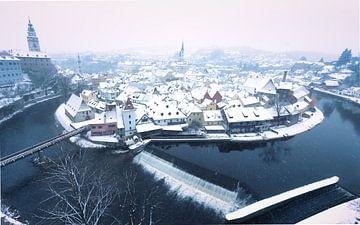 Ceský Krumlov in de winter