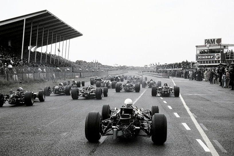 Début du Grand Prix 1968 à Zandvoort sur Harry Hadders