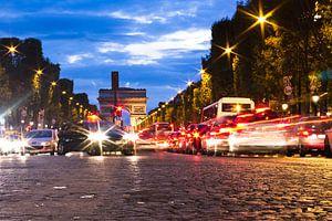 Avenue des Champs-Élysées bij nacht