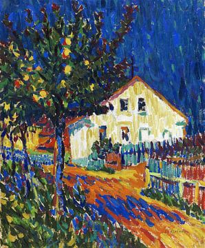 Dorpsstraat met appelbomen, ERNST LUDWIG KIRCHNER, 1907 van Atelier Liesjes