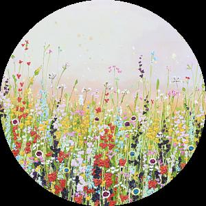 Bloemenveld schilderij lichte variant van Bianca ter Riet