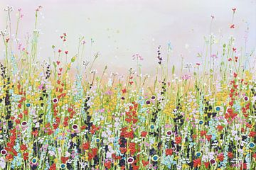 Peinture de champ de fleurs version légère