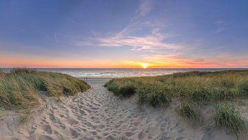 Strandopgang Texel Paal 15 Zonsondergang von Texel360Fotografie Richard Heerschap