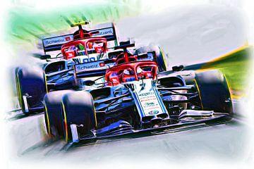 Räikkönen vs. Giovinazzi 2019 van Jean-Louis Glineur alias DeVerviers