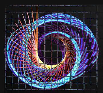 Illuminated helix #2 van Leopold Brix