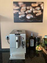 Klantfoto: koffiebonen van Gerhard Albicker, op aluminium