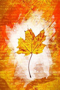 Herfstbladeren Geel van Sharon Harthoorn