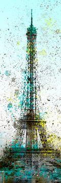 Moderne Kunst Eiffeltoren Nr. 2 Panorama van Melanie Viola