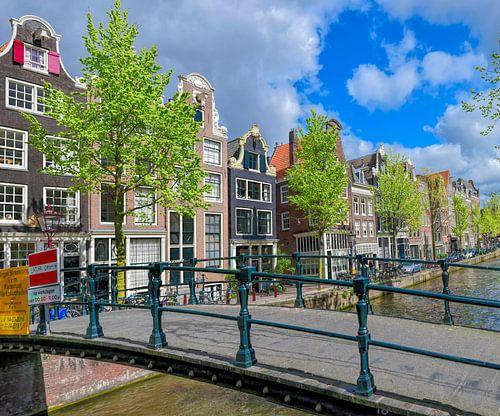 Loopbruggetje Brouwersgracht van Amsterdam Fotografie (Peter Bartelings)