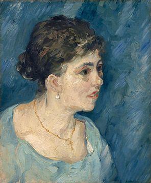 Porträt einer Frau in Blau, Vincent van Gogh