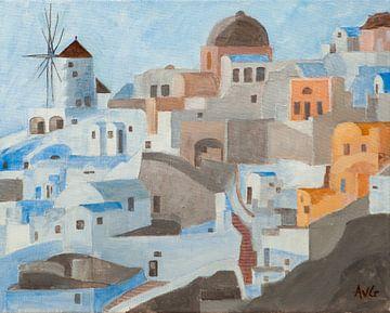 Oia Santorini Gr. van Antonie van Gelder Beeldend kunstenaar