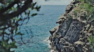 Landschaft - Küste - Klippe bei Cinque Terre - Italien - Gemälde von Schildersatelier van der Ven