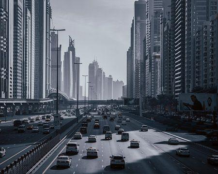 Snelweg door Dubai von michael regeer