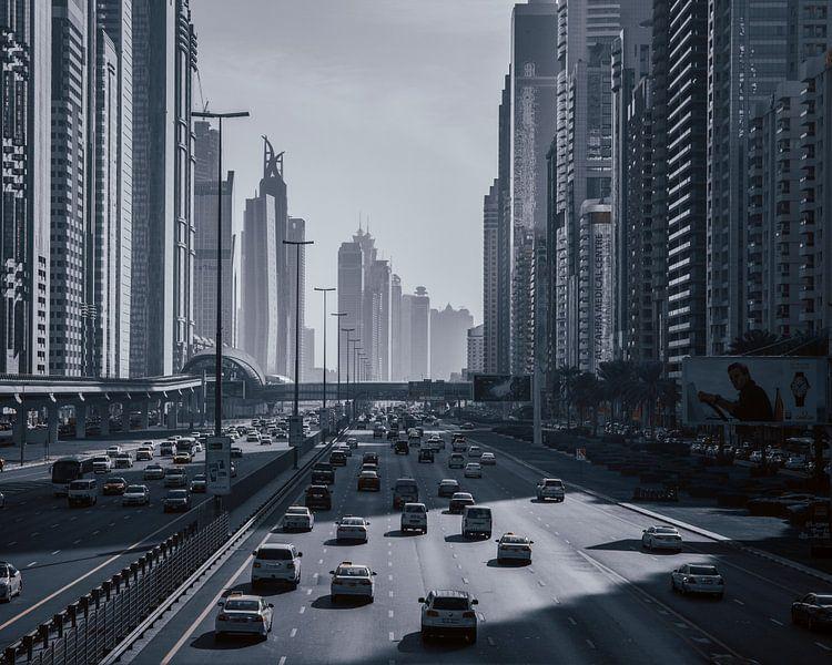 Snelweg door Dubai van michael regeer