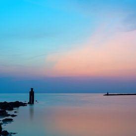 Een avond aan zee van Aline van Weert