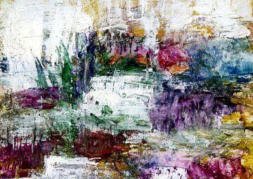 Farbschichtung - experimentelle Landschaft von Claudia Gründler