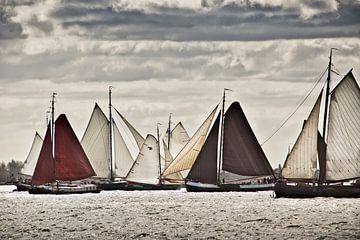Schiffe der Braunen Flotte bei Volendam von Frans Lemmens