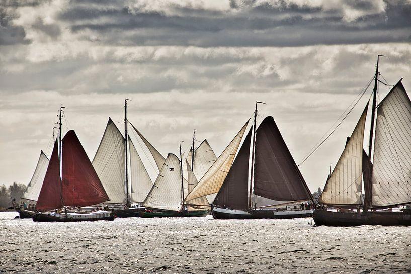 Les navires de la Flotte Brune près de Volendam sur Frans Lemmens