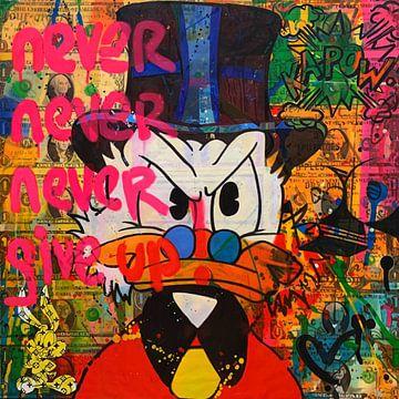 Motief Never Never Give Up - Scrooge van Felix von Altersheim