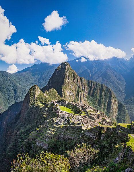 Machu Picchu, Peru, verticaal panorama van Rietje Bulthuis