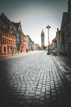 Stad Straubing met stadstoren van Thilo Wagner