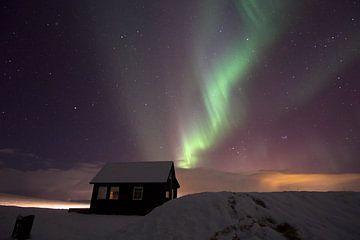 Poollicht boven IJsland.