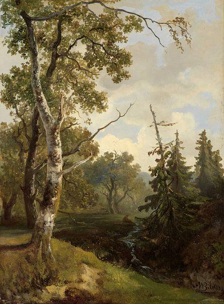 Bosgezicht bij Wolfheze., Johannes Warnardus Bilders von Meesterlijcke Meesters