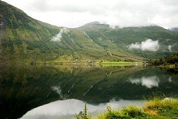 blick über einen See in Norwegen von Karijn Seldam