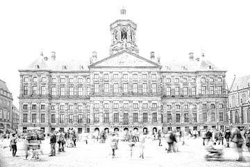 paleis op de dam uit de serie Tijdreizigers van Bert Hunink