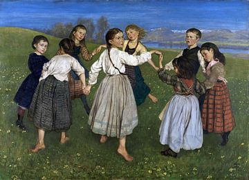 Tanzende Kinder,1872 von Atelier Liesjes