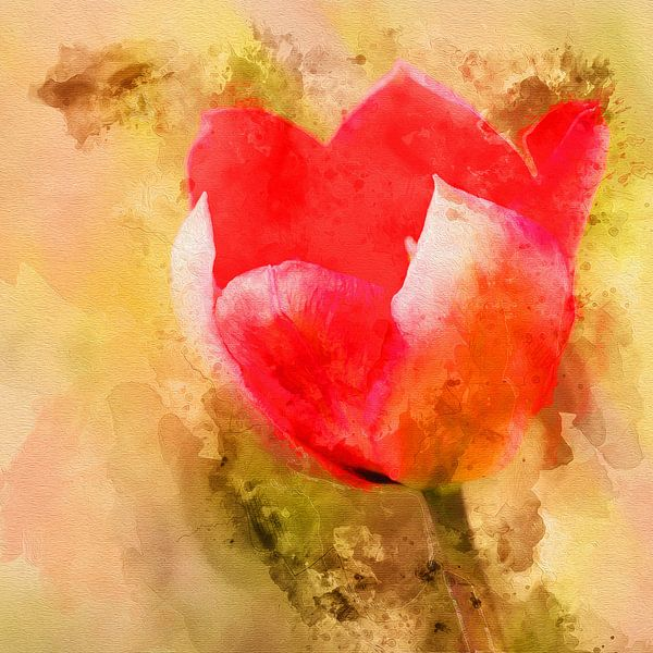 Tulp van de liefde van Art by Jeronimo