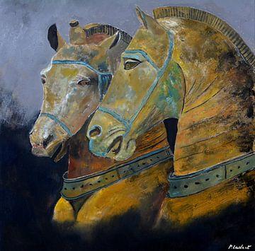 Two horses sur pol ledent