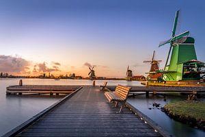 Zonsondergang @ Zaanse Schans