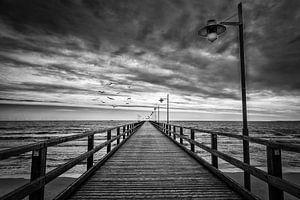 Seebrücke van Bernd Garbers