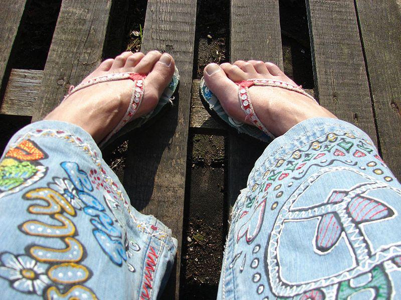 Happy Hippie Feet van Cis Deyl
